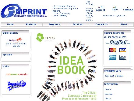 Imprint Specialty Promotions Ltd (709-579-9801) - Website thumbnail - http://www.imprintspec.ca