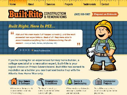 Built-Rite Construction & Renovations (902-888-9807) - Onglet de site Web - http://www.built-rite.ca