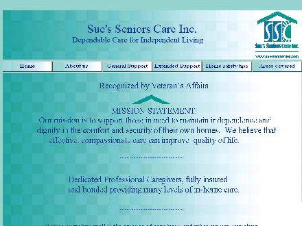 Sue's Senior Care (250-951-2077) - Website thumbnail - http://www.suesseniorcare.com