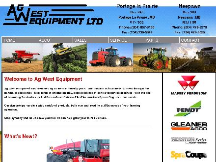 Ag West Equipment Ltd (1-888-981-2446) - Onglet de site Web - http://www.agwestequip.com