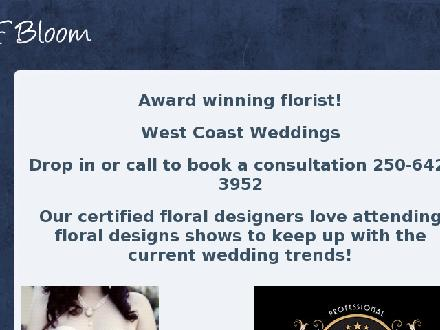 A Sea of Bloom Floral Designs (250-642-3952) - Onglet de site Web - http://www.aseaofbloom.com