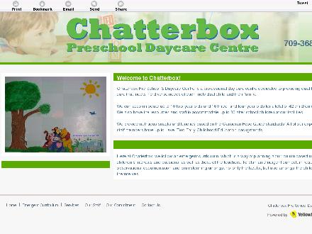 Chatter Box Pre-School &amp; Day Care Centre (709-368-0496) - Onglet de site Web - http://www.chatterboxdaycare.ca