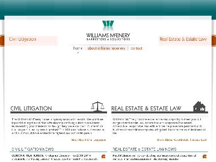 Williams McEnery (613-909-2236) - Onglet de site Web - http://www.williamsmcenery.com