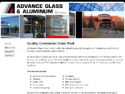Advance Glass & Aluminum (403-359-9925) - Website thumbnail - http://www.advanceglass.ca