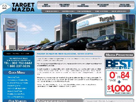 Target Mazda (902-752-0442) - Onglet de site Web - http://www.targetmazda.ca