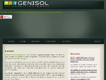 Genisol Environnement Inc (418-800-3190) - Onglet de site Web - http://www.genisol.ca