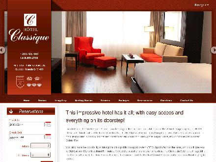 H&ocirc;tel Classique (418-658-2793) - Website thumbnail - http://www.hotelclassique.com
