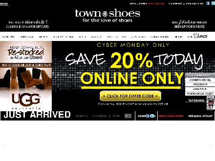 Townshoes.com - Website thumbnail - http://www.townshoes.com