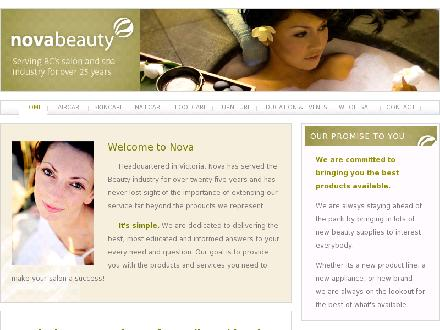 Nova II Beauty Ltd (604-421-6682) - Onglet de site Web - http://www.novabeauty.ca
