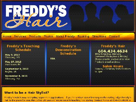Freddy's Hair (604-434-4634) - Onglet de site Web - http://www.freddyshair.ca