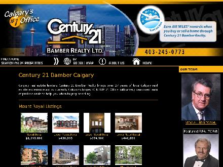 Century 21 Bamber Realty Ltd (403-817-0920) - Onglet de site Web - http://www.century21bamber.ab.ca