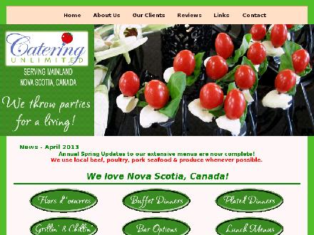 Catering Unlimited (902-422-8880) - Onglet de site Web - http://www.cateringunlimited.ca