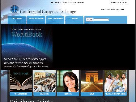 Continental Currency Exchange (416-787-1444) - Website thumbnail - http://www.continentalcurrency.ca