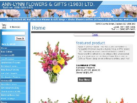 Ann-Lynn Flowers & Gifts (1983) Ltd (604-885-9455) - Website thumbnail - http://www.annlynnflowersandgifts.com
