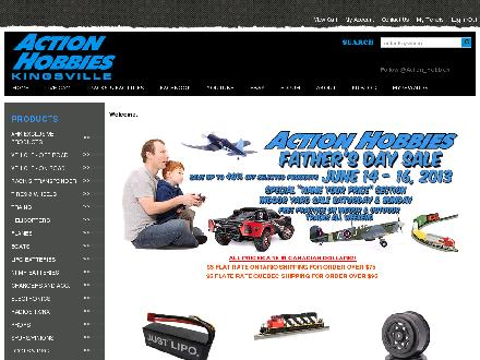 Action Hobbies Kingsville (519-733-2619) - Website thumbnail - http://www.actionhobbieskingsville.com