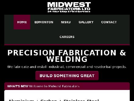Midwest Fabricators Ltd (780-447-0747) - Onglet de site Web - http://www.midwestfabricators.ca