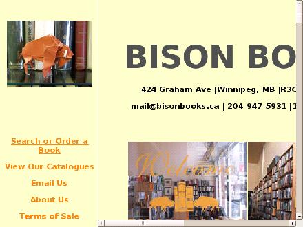Bison Books (204-947-5931) - Website thumbnail - http://www.bisonbooks.ca