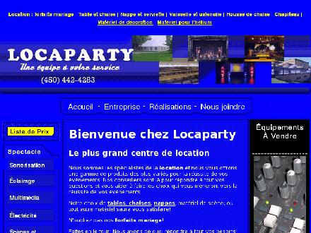 Locaparty Enr (450-442-4283) - Website thumbnail - http://www.locaparty.com