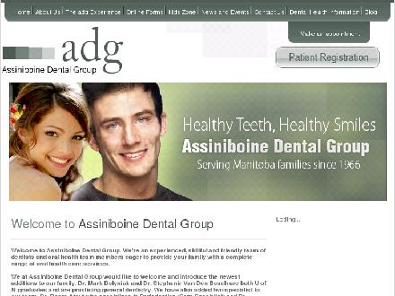 Assiniboine Dental Group (204-958-4444) - Onglet de site Web - http://www.adgonline.ca