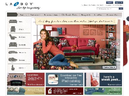 La-Z-Boy Furniture Galleries (403-259-1000) - Website thumbnail - http://www.lazboy.com