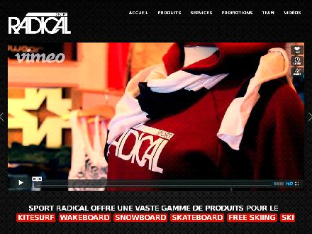 Sport Radical (418-684-0600) - Onglet de site Web - http://www.sportradical.com