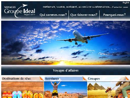 Voyages Groupe Id&eacute;al (514-342-9554) - Onglet de site Web - http://www.groupeideal.ca