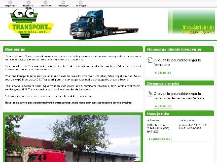 G G Transport Inc (514-381-9161) - Onglet de site Web - http://ggtransport.ca