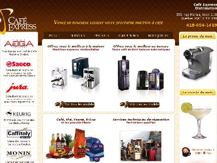 Distribution Café Express (418-654-1419) - Onglet de site Web - http://www.cafexpress.com