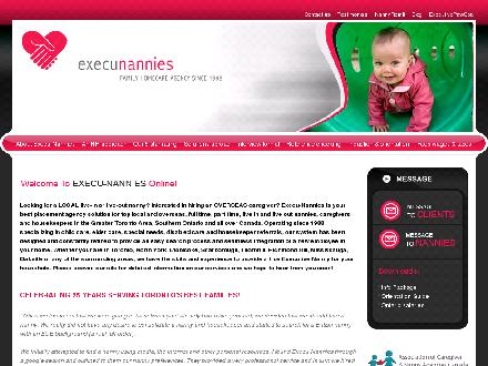 Execu-Nannies (416-221-6000) - Website thumbnail - http://execunannies.com