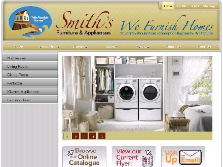 Smith's Furniture & Appliances (1-888-256-4428) - Website thumbnail - http://www.smithsfurniture.ca
