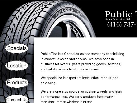 Public Tire Sales & Service Ltd (416-787-1475) - Website thumbnail - http://www.publictire.ca