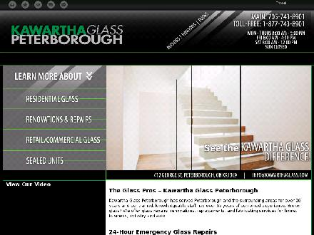 Kawartha Glass Peterborough (705-743-8901) - Onglet de site Web - http://kawarthaglasspeterborough.ca/