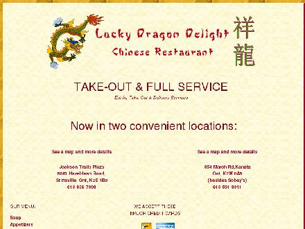 Lucky Dragon Delight (613-836-7898) - Website thumbnail - http://www.luckydragondelight.ca