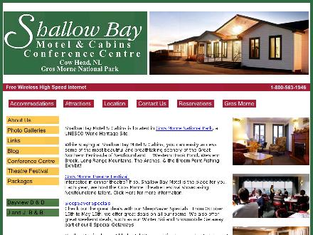 Shallow Bay Motel & Cabins (709-243-2471) - Website thumbnail - http://www.shallowbaymotel.com