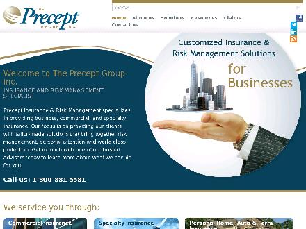 Precept Insurance &amp; Risk Management (226-444-3930) - Onglet de site Web - http://www.preceptgroup.net