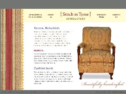 Stitch In Tyme Upholstery (905-478-2016) - Website thumbnail - http://www.stitchintyme.ca