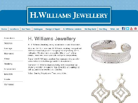 H Williams Jewellery (905-529-2761) - Onglet de site Web - http://www.hwilliamsjewellery.com