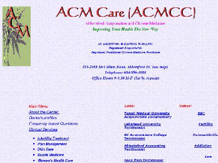 Acupuncture & Chinese Medicine Centre (604-850-1088) - Website thumbnail - http://www.acmcare.com