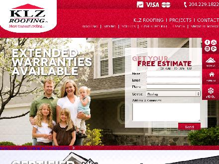 KLZ Roofing Ltd (204-229-1822) - Website thumbnail - http://www.klzroofing.com