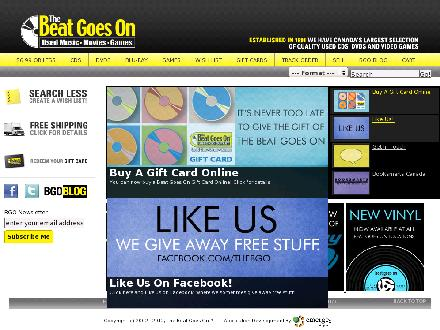 Beat Goes On The (519-622-7774) - Website thumbnail - http://www.beatgoeson.com