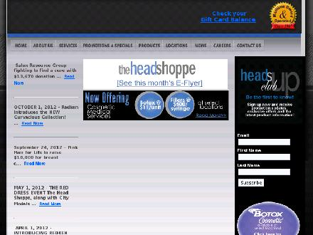 Head Shoppe The (1-888-244-6589) - Onglet de site Web - http://www.headshoppe.ca