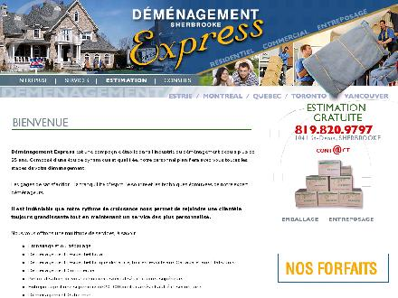 Déménagement Express Sherbrooke (1-877-579-8938) - Website thumbnail - http://www.demenagementexpress.com