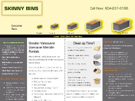 Skinny Bins Disposal (604-261-6198) - Onglet de site Web - http://www.skinnybins.ca