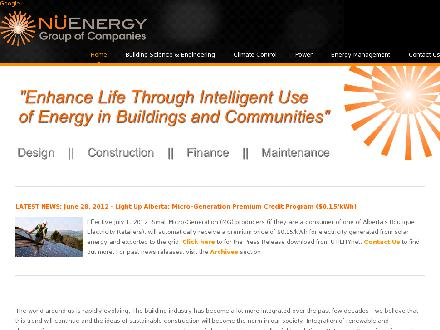 NuEnergy Group Inc (780-443-4242) - Website thumbnail - http://www.nuenergygroup.com