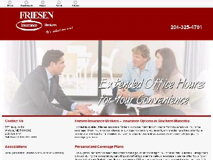 Friesen Insurance Brokers (1-888-324-0518) - Onglet de site Web - http://frieseninsurancebrokers.ca