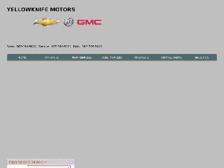 Yellowknife Motors Ltd (867-766-5000) - Website thumbnail - http://www.yellowknifemotors.com