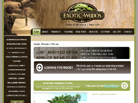 Exotic Woods Inc (905-335-8066) - Website thumbnail - http://www.exotic-woods.com