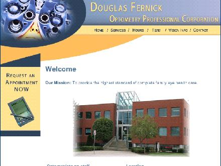 Fernick Douglas W Dr (905-664-5949) - Onglet de site Web - http://www.stoneycreekoptometry.com
