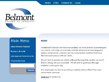 Belmont Financial Services (506-634-7050) - Website thumbnail - http://www.belmontfinancial.com