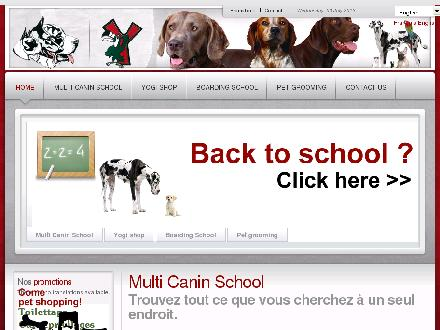 Centre Multi-Canin Inc (450-663-2993) - Onglet de site Web - http://www.centremulticanin.ca